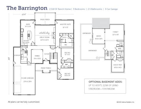 barrington floor plan the barrington harlow builders inc