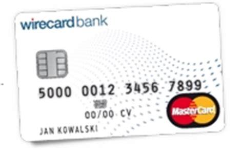 wirecard bank ag mywirecard ab 29 90 eine mastercard kreditkarte
