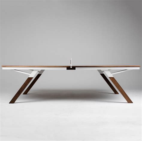 a beautiful table tennis which also serves as a dining
