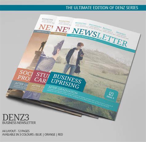 ngo newsletter templates denz 3 business newsletter template modern design on behance