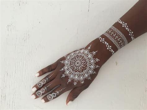 white henna tattoo 70 impressive henna designs mens craze