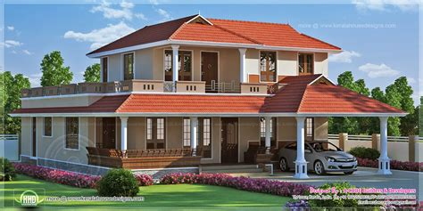 kerala home design thrissur 2834 square feet kerala model villa exterior home kerala