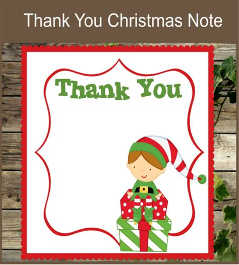 10 christmas thank you notes free sle exle