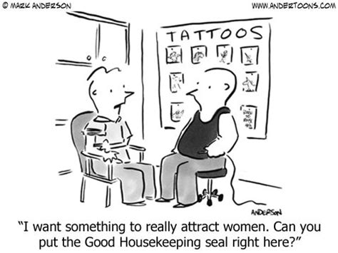 tattoo cartoon jokes quot i want something to really attract women can you put the