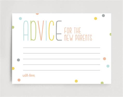 New Parent Advice Card Template by 27 Images Of Words Of Advice For Parents Free To Be The