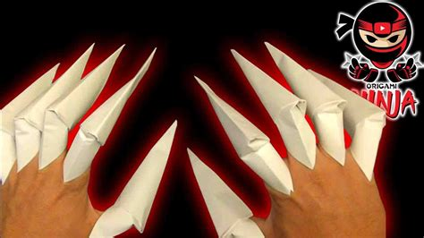 How To Make Paper Fingers - how to make origami claws viyoutube