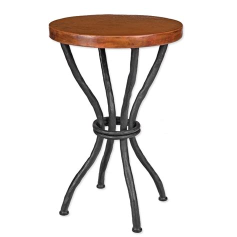 iron accent table pictured here is the woodland accent table with 18 quot round