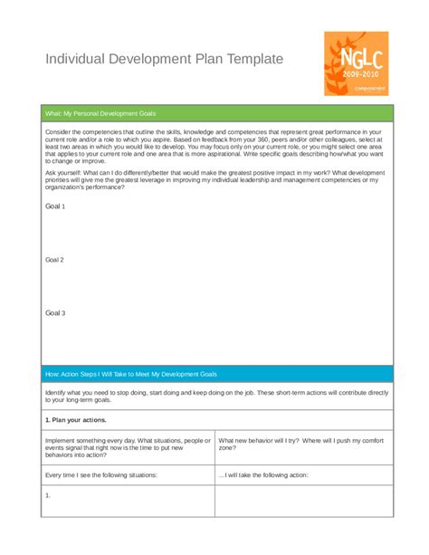 personal leadership development plan exle edit fill