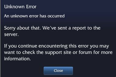 how to fix quot unknown unknown error message since patch 6 9