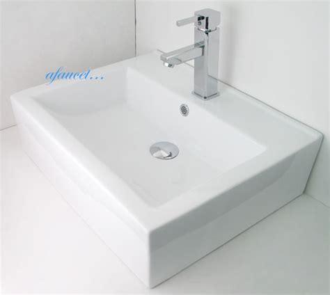 bathroom countertops for vessel sinks rectangular porcelain ceramic single hole countertop