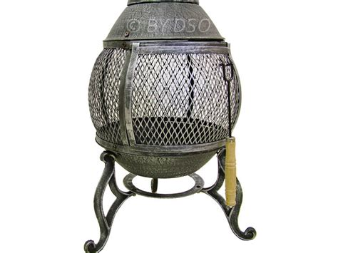 Chiminea Stand Cast Iron Cast Iron Wood Heater Fireplace Chiminea Grey Bml19810