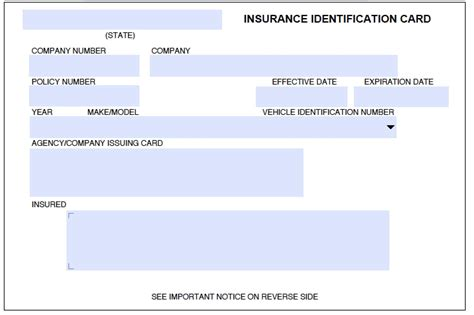 Blank Auto Insurance Card Template Hawaii by Free Auto Insurance Card Template Best Business Template