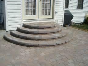 patio steps ideas pavers patio ideas paver stairs patio paver steps design