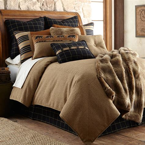 Cabin Style Comforter Sets by Luxury Pine Cone Bedding Cabin Place