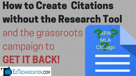 How To Make A Citation In A Research Paper - edtechnocation how to create citations without the