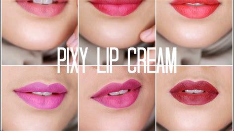 Lipstik Pixy Lip Chic review swatch pixy lip