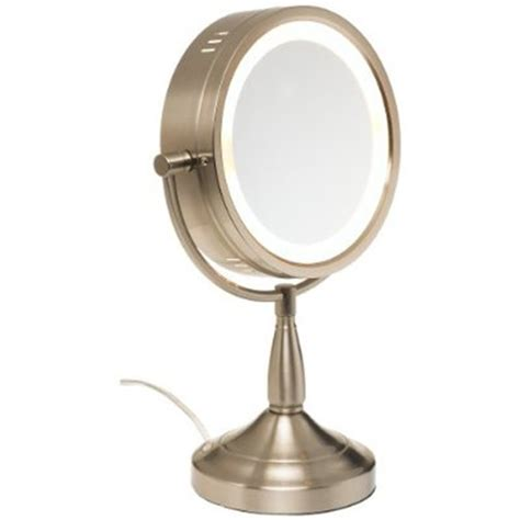 Table Top Mirrors by Jerdon 7x Lighted Table Top Mirror Nickel No 780 Lt856n