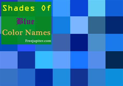 names for the color blue 30 shades of blue color names general blue shades