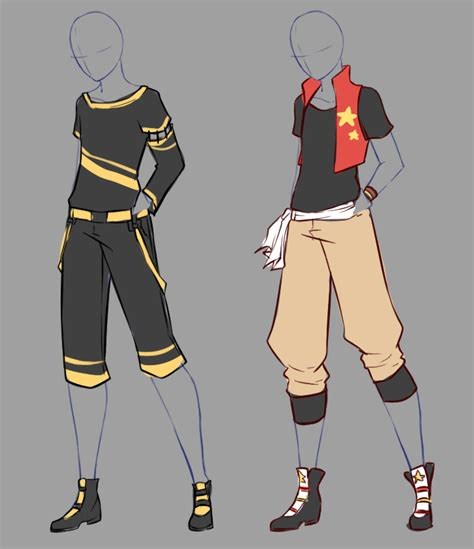 anime boy clothes designs december commissions 9 by rika dono on deviantart