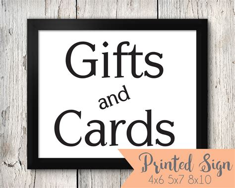 table gift card cards table sign gift table wedding sign printed wedding