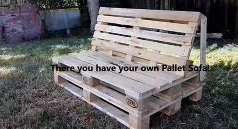 diy pallet sofa tutorial 7 best and beautiful diy wood pallet sofa tutorial video