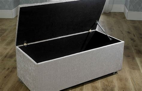 box ottoman new ottoman storage blanket box in chenille