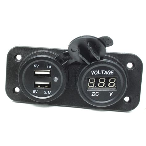 Wupp Car Charger Dual Usb Led With Voltmeter Combination Tunin Murah wupp car charger dual usb led with voltmeter combination