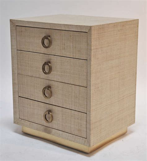 Grasscloth Dresser by Small Grasscloth Clad Dresser Or Stand With Brass