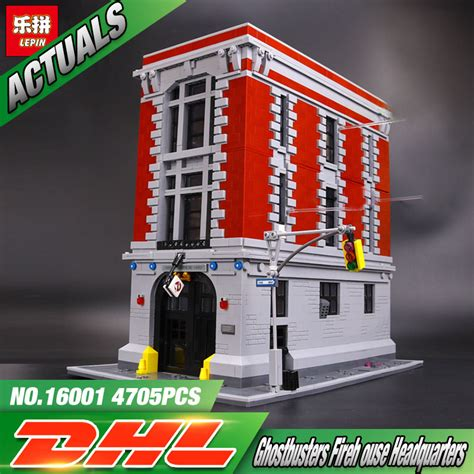 aliexpress headquarters lepin 16001 4695pcs ghostbusters firehouse headquarters