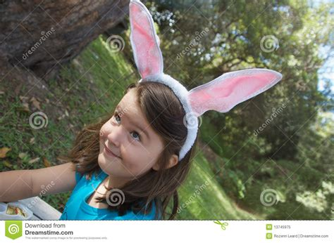 funny easter bunny stock image image  caucasian easter