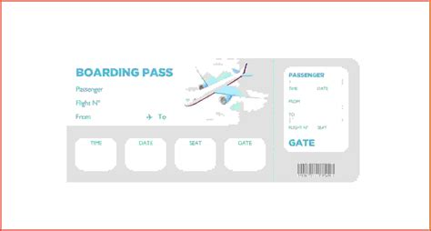 pass template boarding pass template proposalsleletter