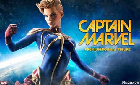 captain marvel captain marvel premium format figure sideshow collectibles