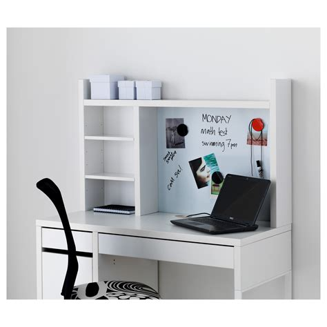 scrivania micke micke add on unit high white 105x65 cm ikea