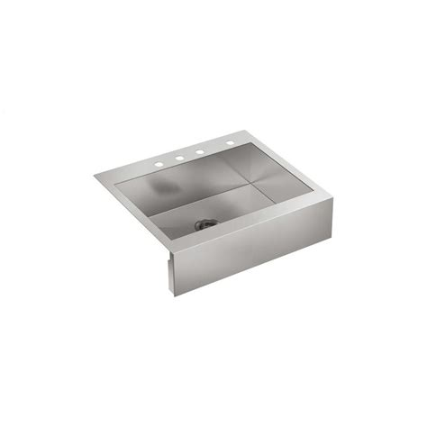 drop in apron kohler vault drop in farmhouse apron front stainless steel