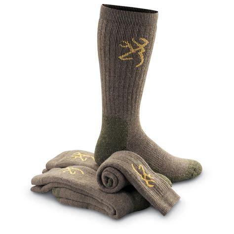 Wool Socks browning merino wool blend socks 3 pairs 130393 socks
