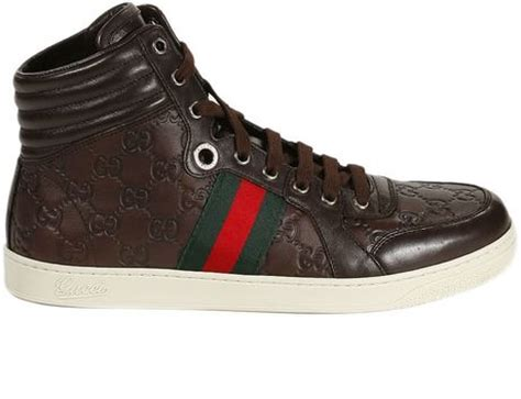 gucci shoes tennis ankle boots ssima in brown for