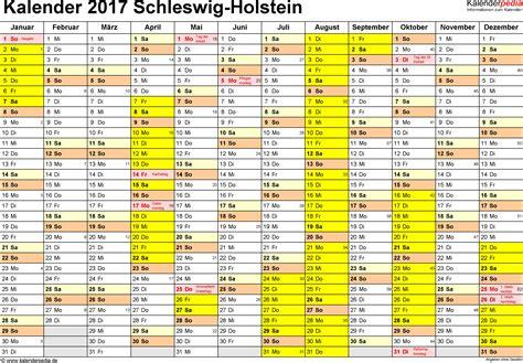 ferien schleswig holstein 2017 220 bersicht der ferientermine