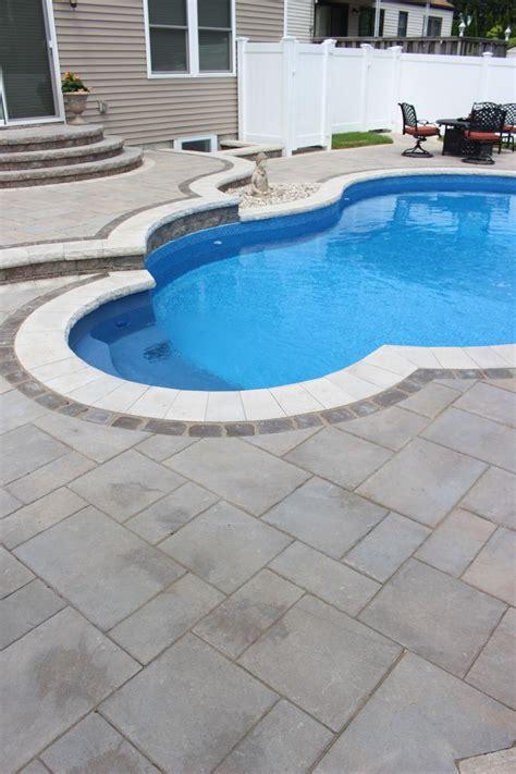 Buy Unilock Pavers This Massapequa Ny Pool Patio Built With Beautiful