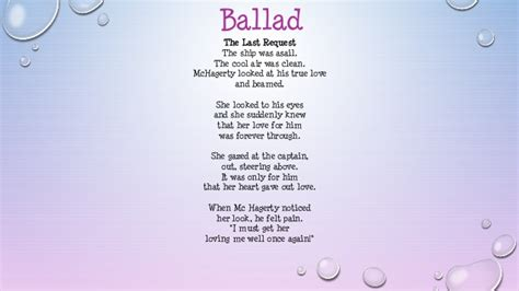 ballad template me myself and i poems
