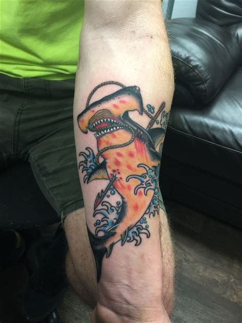 eugene tattoo shark mike anchored ink eugene oregon