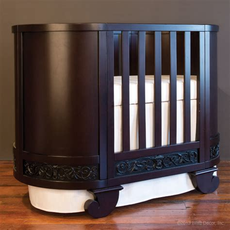 Oval Baby Cribs For Sale by Chelsea Oval Crib Cradle Espresso