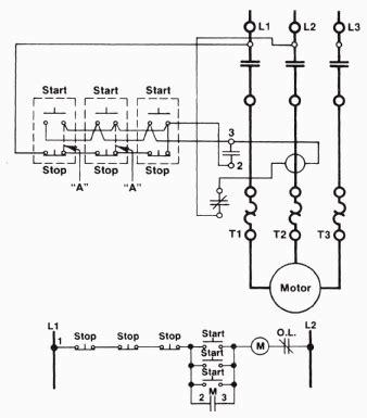 wire startstop circuit  multiple startstop push buttons