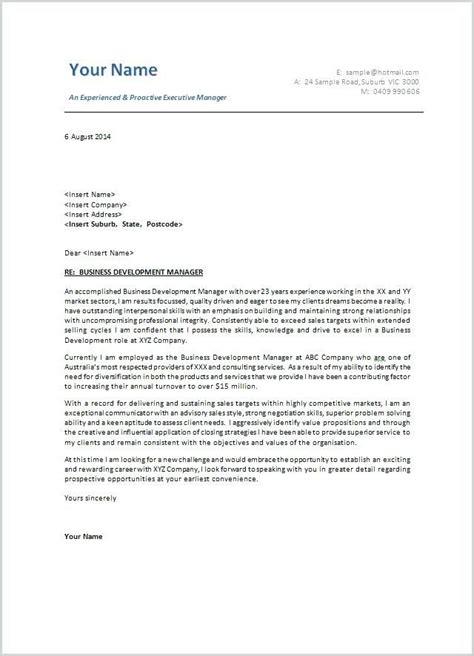 cover letter template australia modeles de lettres