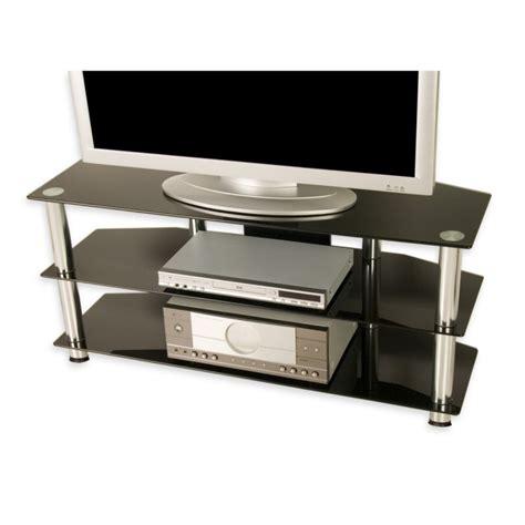 table tele en verre meuble tv en verre tremp 233 noir 110 x 50 x 40 cm