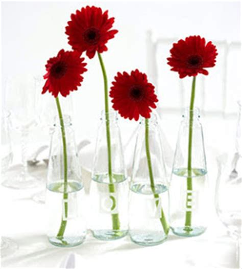 Glass Flower Vases Centerpieces by The Scrappin Ladybug Home Grown Flowers 2009 Garden