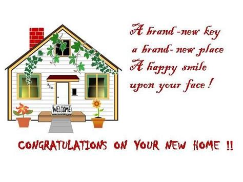 home so congratulations on your new house greetings on