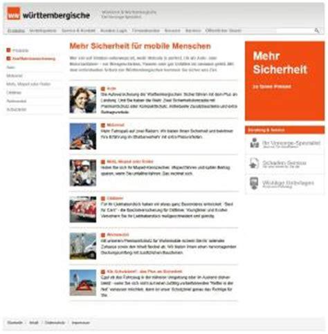 Motorradversicherung W Stenrot by W 252 Rttembergische Versicherung F 252 R Kfz