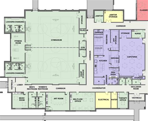 cafeteria floor plans henson gymnasium and cafeteria floor plan cunningham