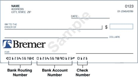 bank ach code bremer bank routing number and code banking