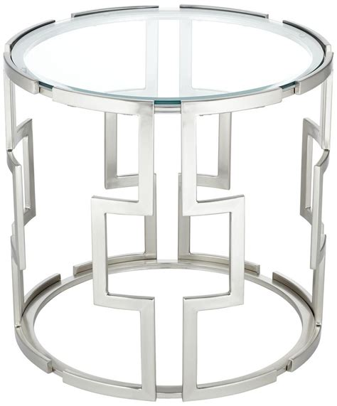 Glass End Tables Geometric Tempered Glass End Table